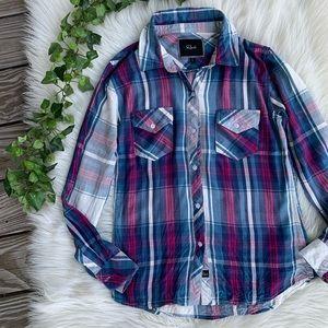 Rails Plaid Flannel Button Down Long Sleeve Top